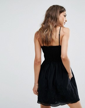 photo Eyelet Dress by Abercrombie & Fitch, color Black - Image 2