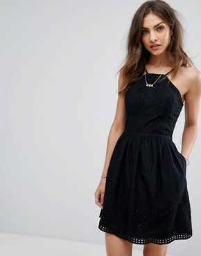 photo Eyelet Dress by Abercrombie & Fitch, color Black - Image 1