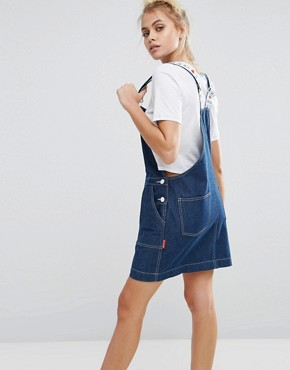 photo Pinafore Dress by Lazy Oaf x Hello Kitty, color Blue - Image 2
