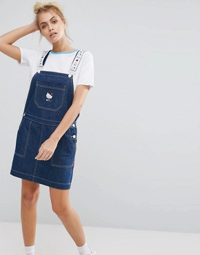 photo Pinafore Dress by Lazy Oaf x Hello Kitty, color Blue - Image 1