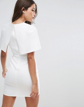 photo Cape Scuba Mini Dress by ASOS, color White - Image 2