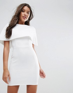 photo Cape Scuba Mini Dress by ASOS, color White - Image 1