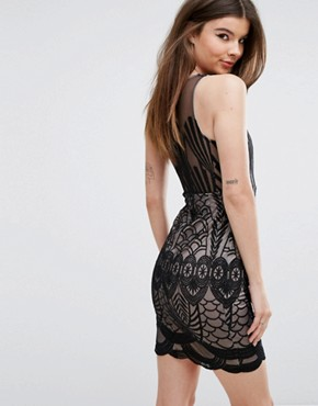 photo Mini Dress in Overscaled Lace by Love Triangle, color Black - Image 2