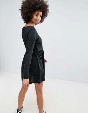 photo Jersey Skater Dress by Brave Soul, color Black - Image 2