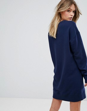 photo Varsity Sweat Dress by Polo Ralph Lauren, color Navy - Image 2