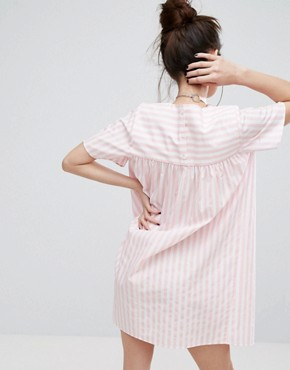 photo Smock Dress in Candy Stripe by H! by Henry Holland, color Pink - Image 2
