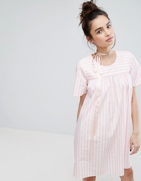 photo Smock Dress in Candy Stripe by H! by Henry Holland, color Pink - Image 1