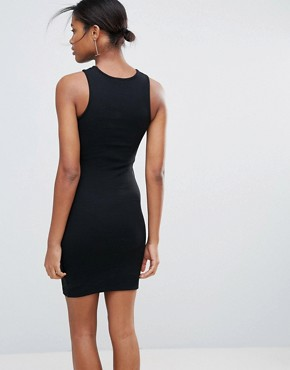 photo Cut Out Bodycon Dress by New Look, color Black - Image 2