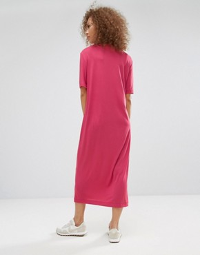 photo Maxi T-Shirt Dress by Weekday, color Pink - Image 2