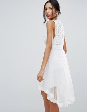 photo Skater Dress with Crochet Lace by Amy Lynn Occasion, color Cream - Image 2