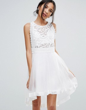 photo Skater Dress with Crochet Lace by Amy Lynn Occasion, color Cream - Image 1