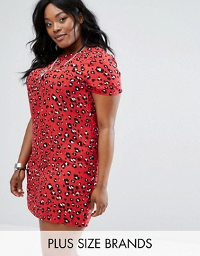 photo Leopard Shift Dress by Alice & You, color Multi - Image 1