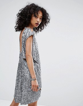 photo Embellished Dress with Distressing by Religion, color Silver - Image 2