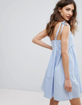 photo Sundress with Bow Details by Nobody's Child, color Pale Blue - Image 2