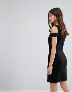 photo Bodycon Dress with Shoulder Detail by Noisy May, color Black - Image 2