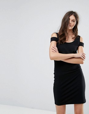 photo Bodycon Dress with Shoulder Detail by Noisy May, color Black - Image 1