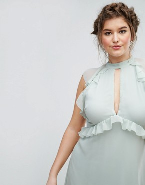 photo Ruffle Sleeve Skater Dress by Truly You, color Green - Image 3