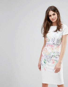 photo Hudson Henley Abi Print Dress by Coast, color Multi - Image 1