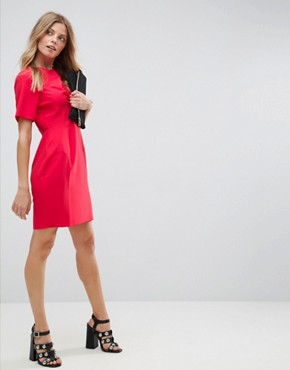 photo Twist Front Mini Pencil Dress by ASOS, color Red - Image 4