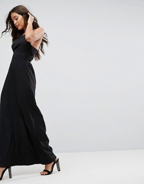 photo Maxi Dress with Strappy Back Detail by ASOS, color Black - Image 4