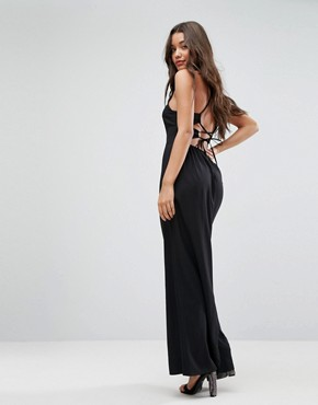 photo Maxi Dress with Strappy Back Detail by ASOS, color Black - Image 1