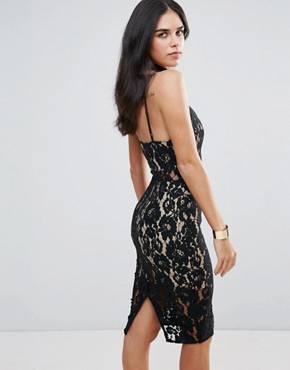 photo Lace Dress by Love Triangle, color Black - Image 2
