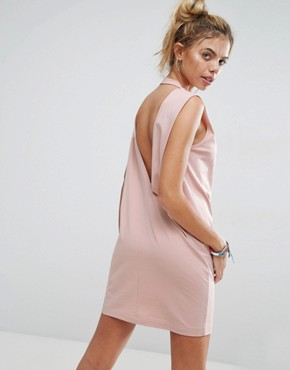 photo Sleeveless T-Shirt Dress with V-Back by ASOS, color Nude - Image 1