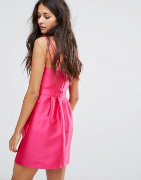 photo Wrap Front Mini Prom Dress by Miss Selfridge, color Pink - Image 2