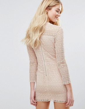 photo Lace Dress by The English Factory, color Nude Pink - Image 2