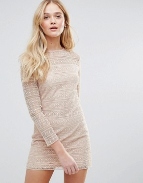 photo Lace Dress by The English Factory, color Nude Pink - Image 1
