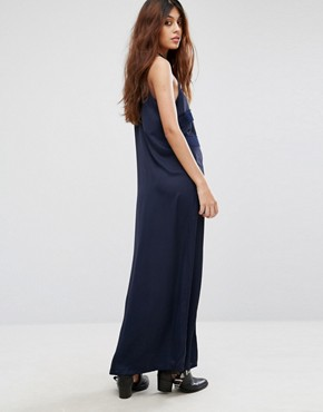 photo Ruffle Maxi Dress by Chandelier, color Navy - Image 2