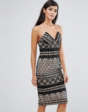 photo Lace Bodycon Dress by Aijek, color Black - Image 1