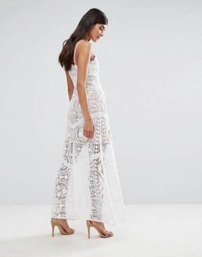 photo Lace Maxi Dress by Aijek, color White - Image 2