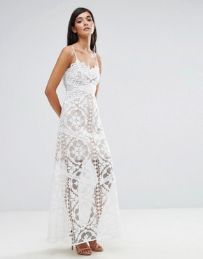 photo Lace Maxi Dress by Aijek, color White - Image 1