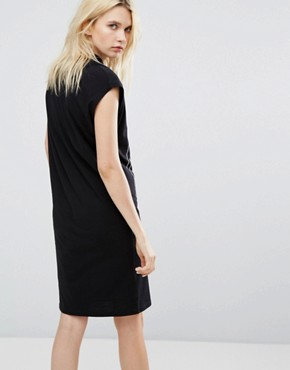 photo Concrete Logo High Neck Dress by Cheap Monday, color Black - Image 2