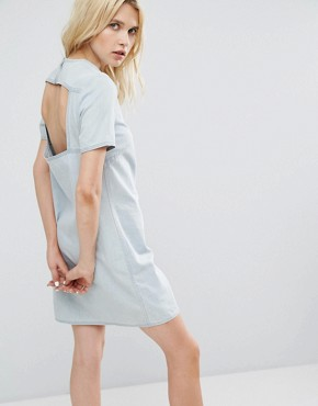 photo Open Back Denim Dress by Cheap Monday, color Pale Blue - Image 1