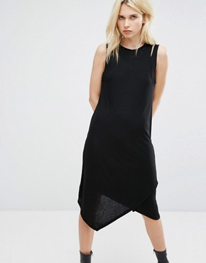 photo Double Layer Ribbed Tank Dress by Cheap Monday, color Black - Image 1