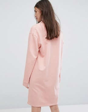 photo Relaxed High Neck Sweat Dress by Ellesse, color Rose Tan - Image 2