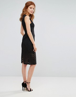 photo Genration Initiative Lace Shift Dress by BCBG Max Azria, color Black - Image 2