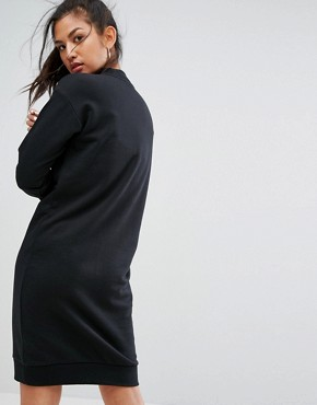 photo Trefoil Crew Neck Dress in Black by Adidas Originals, color Black - Image 2