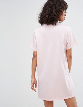 photo Trefoil Tee Dress in Pale Pink by Adidas Originals, color Pink - Image 2