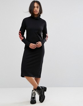 photo Logo Arms Polo Midi Dress by BACK by Ann Sofie Back, color Black - Image 1