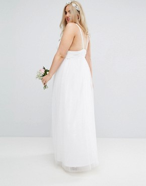 photo Tulle Maxi Prom Dress by ASOS CURVE BRIDAL, color White - Image 2