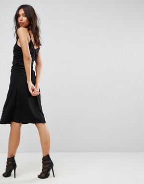 photo Slip Dress with Hardware Detail by ASOS, color Black - Image 2