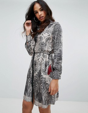 photo Printed Shirt Dress by Forever Unique, color Multi - Image 1