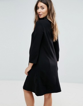 photo Marlow Maternity Tunic Dress by Isabella Oliver, color Caviar Black - Image 2