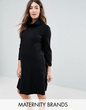 photo Marlow Maternity Tunic Dress by Isabella Oliver, color Caviar Black - Image 1