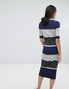 photo Sidewalk Bodycon Midi Dress by ADPT Tall, color High Rise - Image 2