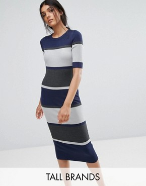 photo Sidewalk Bodycon Midi Dress by ADPT Tall, color High Rise - Image 1