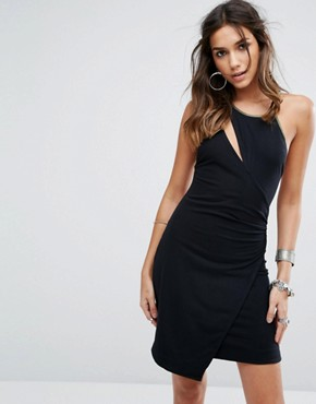 photo Toast To That Mini Dress by Free People, color Black - Image 1